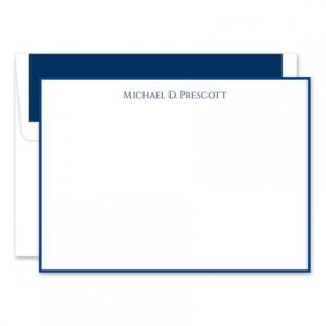 Navy & White Flat Card