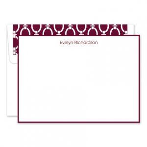 Wine & White Flat Card