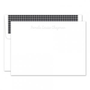 Embossed White Flat Card