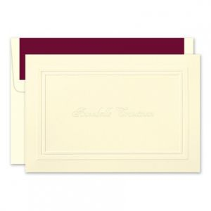 Embossed Ivory Note Card