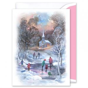 Winter Skating Greeting Card