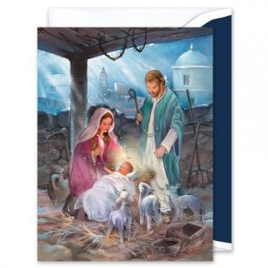 Manger Greeting Card