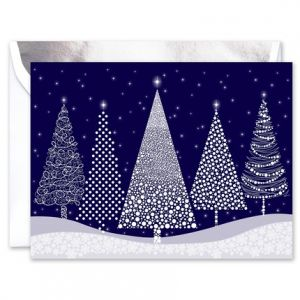 Modern Trees Greeting Card