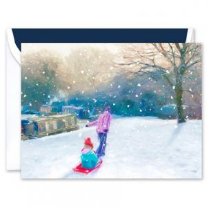 Red Sled Greeting Card