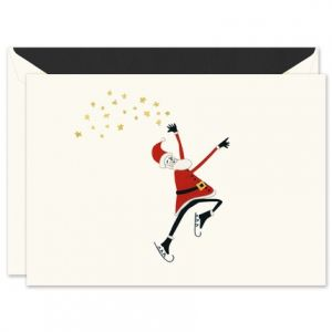 Santa on Ice Greeting Card