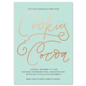 Cookies & Cocoa Invitation