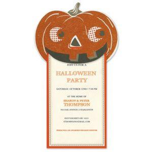 Glitter Pumpkin Invitation