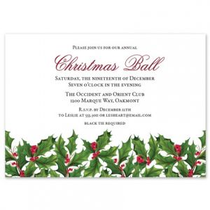 Holly Border Invitation
