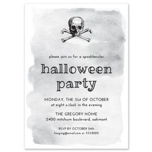 Grey Watercolor Invitation