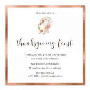 Copper Turkey Invitation
