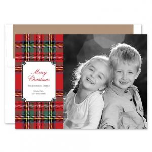 Tartan Plaid Photo Card