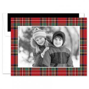 Tartan Red Photo Card