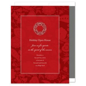 Paisley Red Invitation