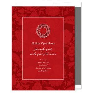 Paisley Red Invitation