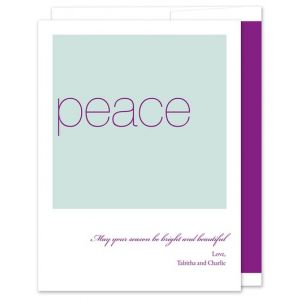 Plum Peace Greeting Card