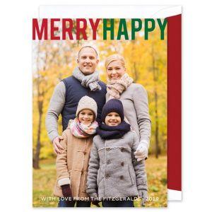 Merry Happy Photo Card