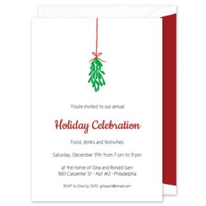 Mistletoe Invitation