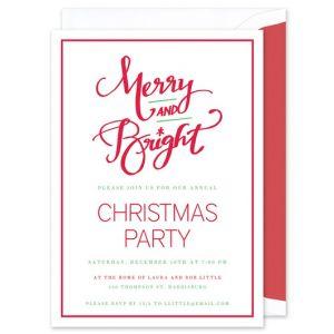 Merry & Bright Invitation