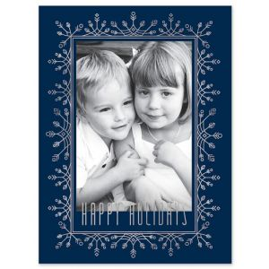 Frosted Flurries Photo Card