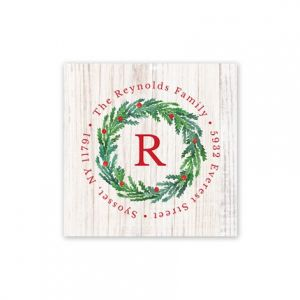Joyous Wreath Address Label