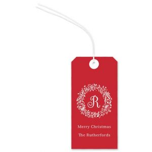 Red Wreath Gift Tag