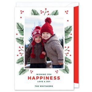 Festive Pine Photo Card