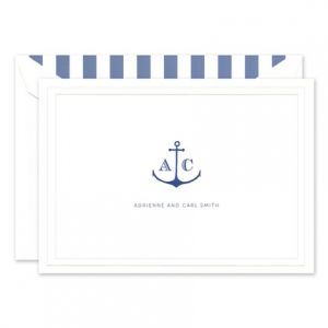 White Large Note Card