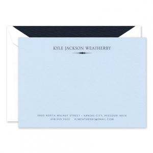 Azure Blue Flat Card