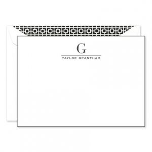 Black & White Flat Card
