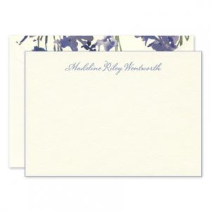 Periwinkle Edge Flat Card