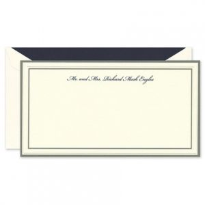 Gray Border Flat Card