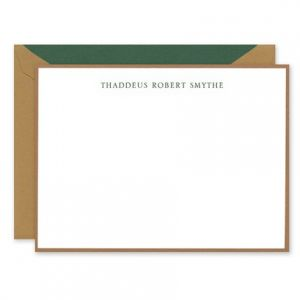Copper Border Flat Card