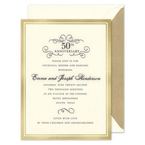 Gold Foil Border Invitation