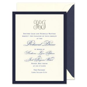 Navy & Ecru Invitation