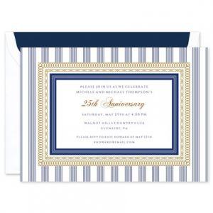 Regatta Stripes Invitation