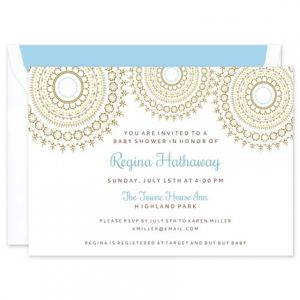 Medallion Shower Invitation