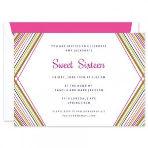 Rainbow Geometric Invitation