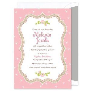 Pink Wildflower Invitation