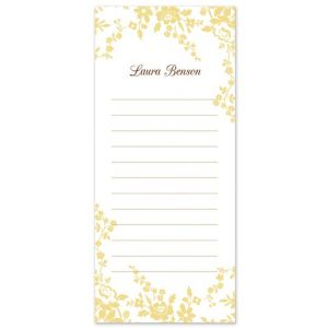 Yellow Flower List Pad