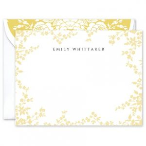 Yellow Flower Flat Card