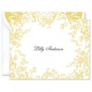 Yellow Flower Folded Card