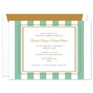 Teal Stripe Invitation