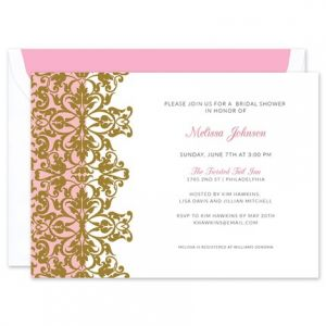 Gold Damask Invitation