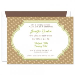 Kraft Dots Invitation
