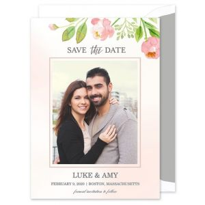 Blush Blossoms Save the Date