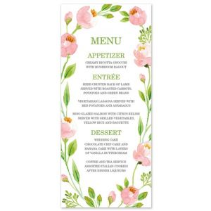 Botanical Wreath Menu Card