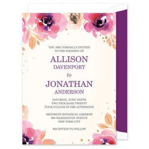 Blushing Floral Invitation