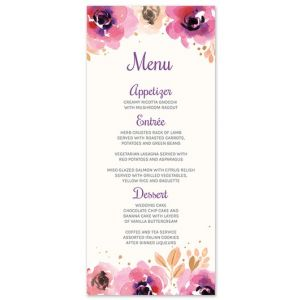 Blushing Floral Menu Card