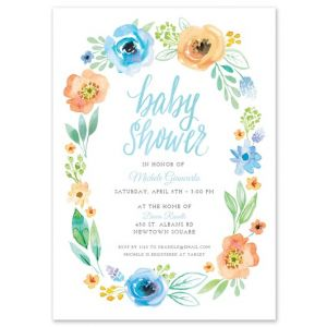 Garland Shower Invitation