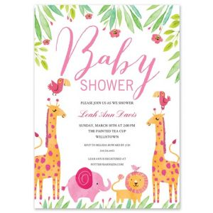 Pink Zoo Invitation